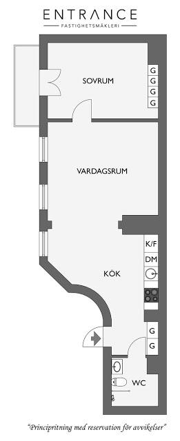 plan de amenajare pentru un apartament de doua camere stil vagon
