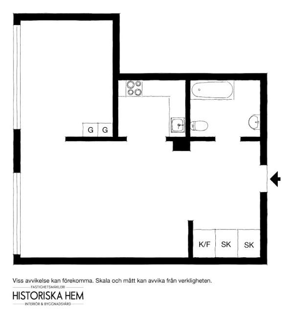 plan de amenajare pentru un apartament de 32 mp