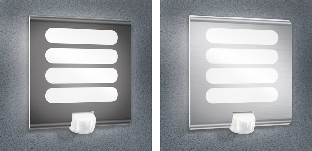 Lampă LED, design modern, cu senzor de mișcare, pentru exterior