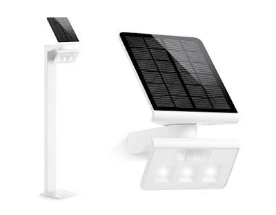 Lampă solară LED, cu senzor de mișcare, pentru exterior