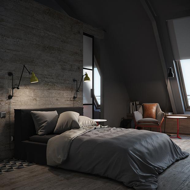 mobilier-rosu-intrun-apartament-modern