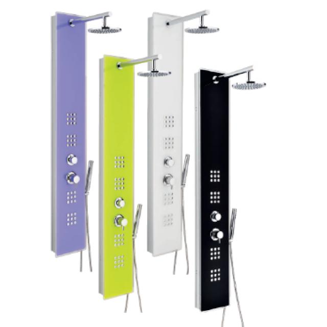 Paneluri de duș cu hidromasaj în diverse culori