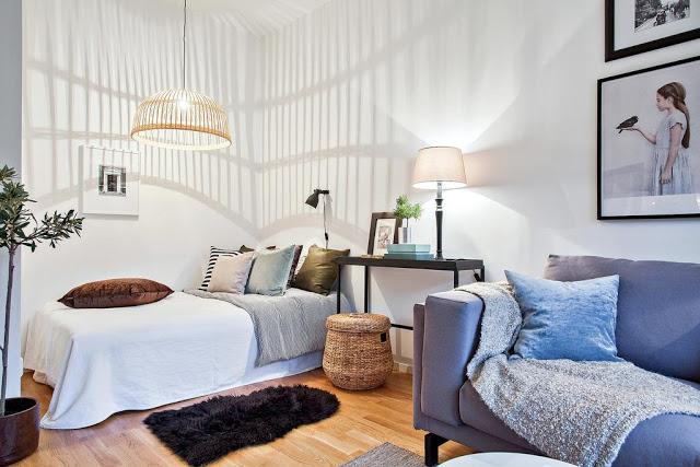 dormitor in garsoniera