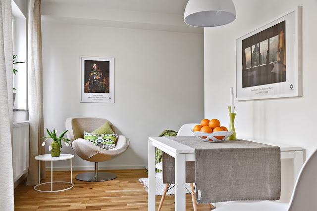 Amenajare simplă și practică pentru o garsonieră de numai 23 m²