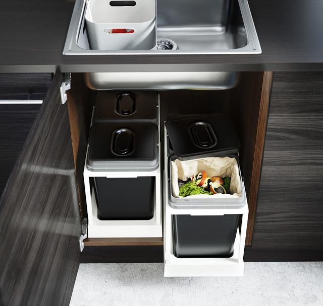 Cosuri de gunoi pentru sortare si reciclare VARIERA, IKEA