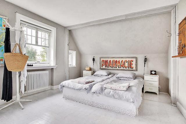 dormitor in alb