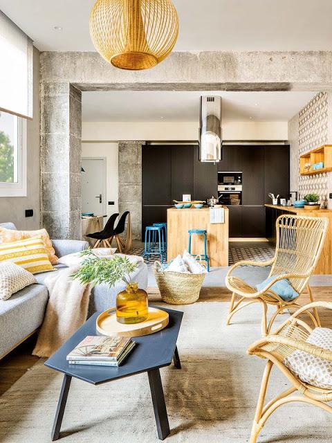 O amenajare plina de contraste pentru un decor perfect echilibrat