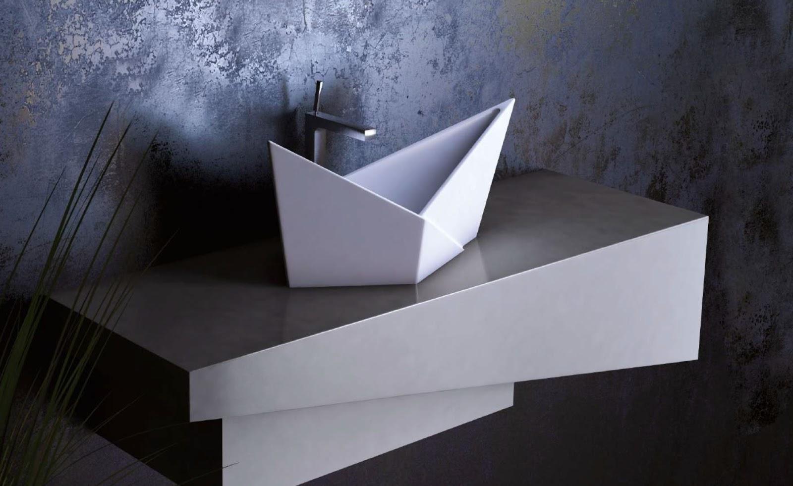 Lavoar de baie Olimpia in forma de barcuta