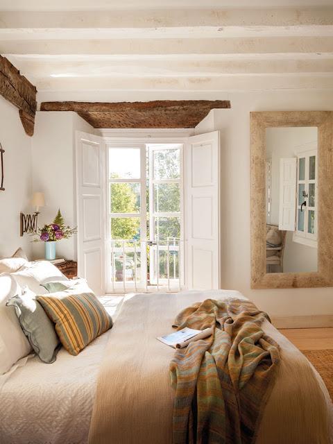 dormitor rustic