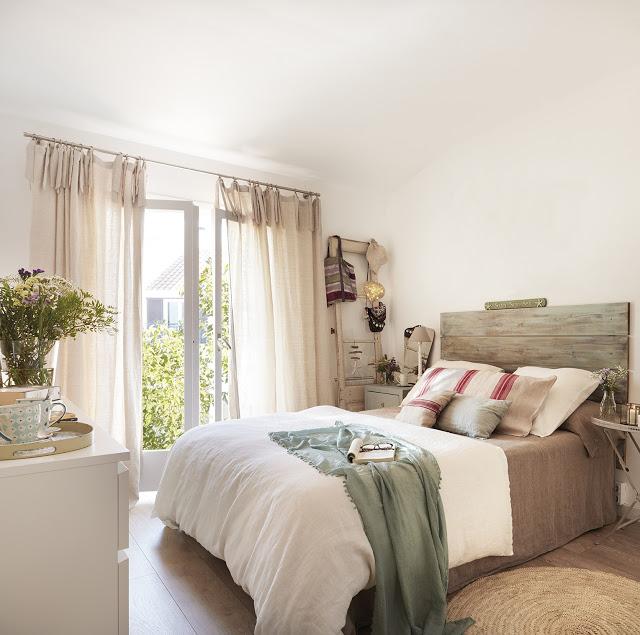 dormitor rustic elegant