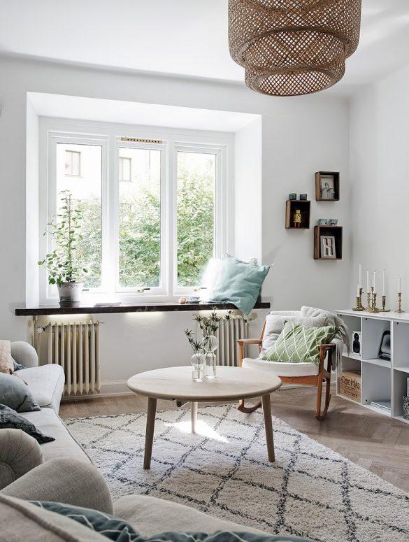 Tonuri neutre de culoare în amenajarea scandinavă a unui apartament de 61 m²