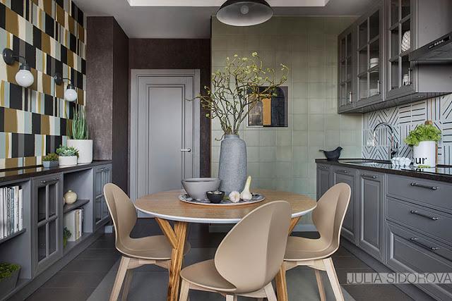 Eleganță contemporană în tonuri de gri pentru un apartament de 108 m² din Moscova