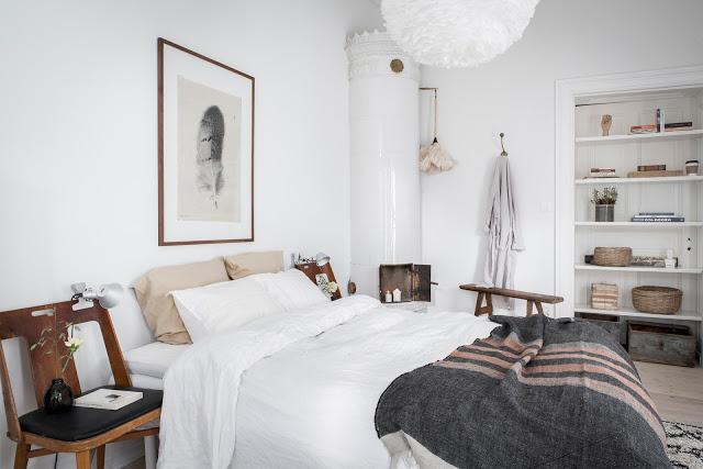Detalii vintage și accente naturale de culoare într-un apartament de 60 m²