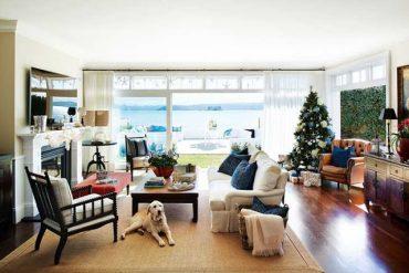 Crăciun cu accente de albastru într-o casă din Sydney