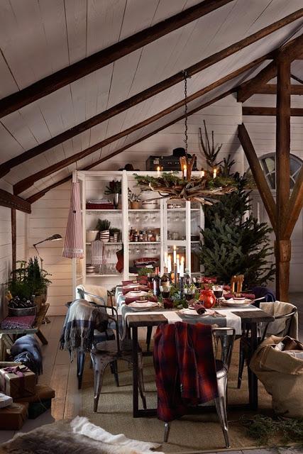 Crăciun rustic în roșu și alb