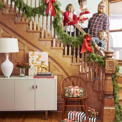 Decor de Crăciun, cald și primitor, într-o casă din Chicago