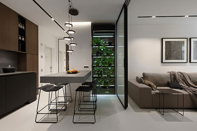 Amenajare modernă și practică într-un apartment de 44 m² din Kiev