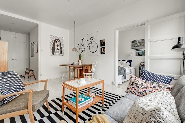 Decor relaxat într-un apartament de numai 40 m²