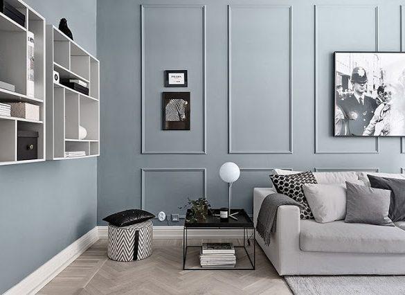 pereti-gri-albastrui-in-decorul-unui-apartament-doua-camere