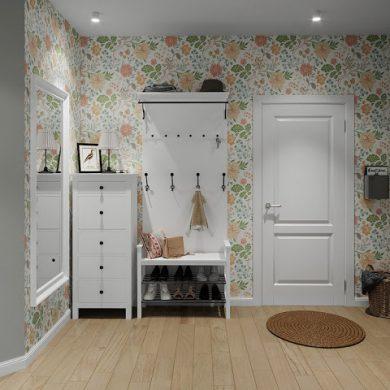 Proiect de amenajare fără living pentru un apartament de 60 m²