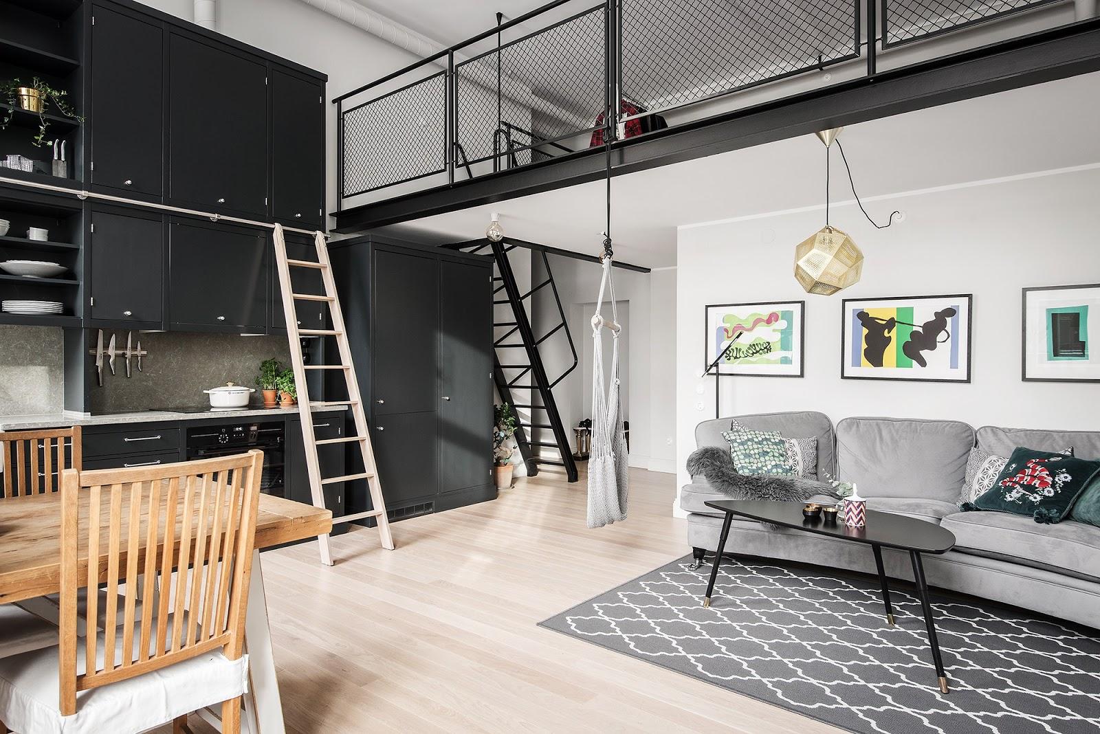 Hamac în living - Design interior