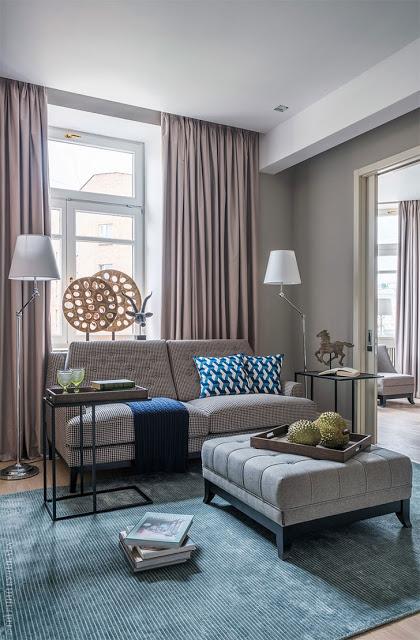 Decor contemporan și elegant pentru un apartament de 75 m² din Moscova