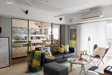 birou-cu-pereti-de-sticla-si-accente-vesele-culoare-apartament-taiwan