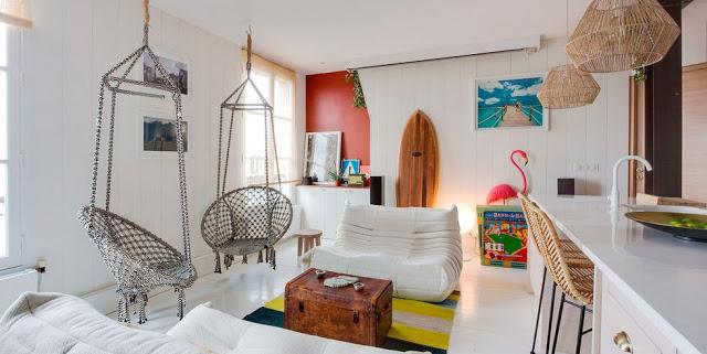 Atmosferă de vacanță într-un apartament de 43 m² din Paris