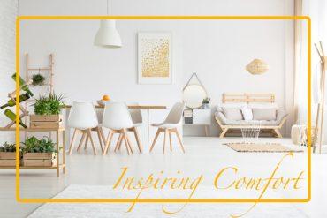 Definește designul nordic cu canapele extensibile și perdele