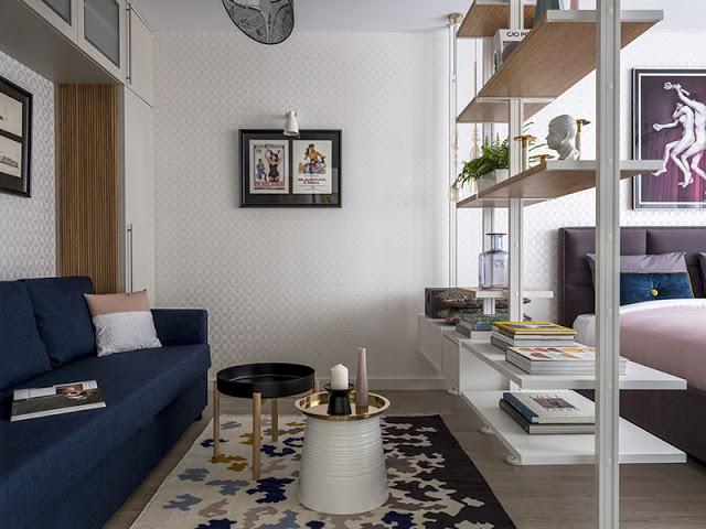 Amenajare practică și elegantă într-o garsonieră de 32 m² din Moscova