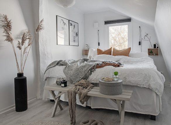 Amenajare scandinavă într-o mansardă de 69 m² din Suedia