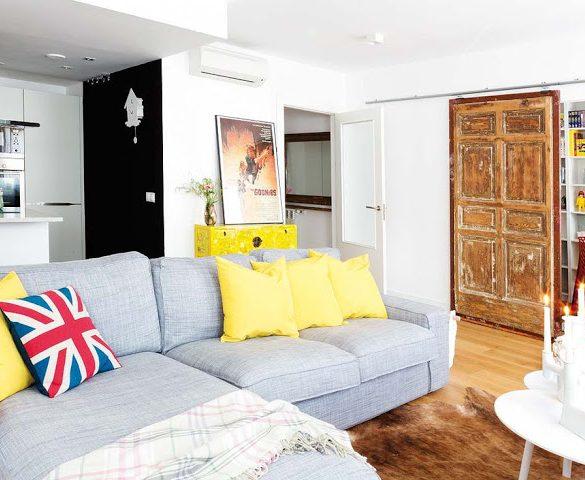 Decor eclectic cu accente vintage și retro într-un apartament de 88 m² din Spania