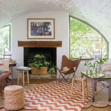 Rustic în tonuri naturale de culoare într-o casă din secolul al XIX-lea