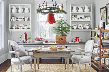 Decor de Crăciun într-un interior cu accente vintage din Tennessee, SUA