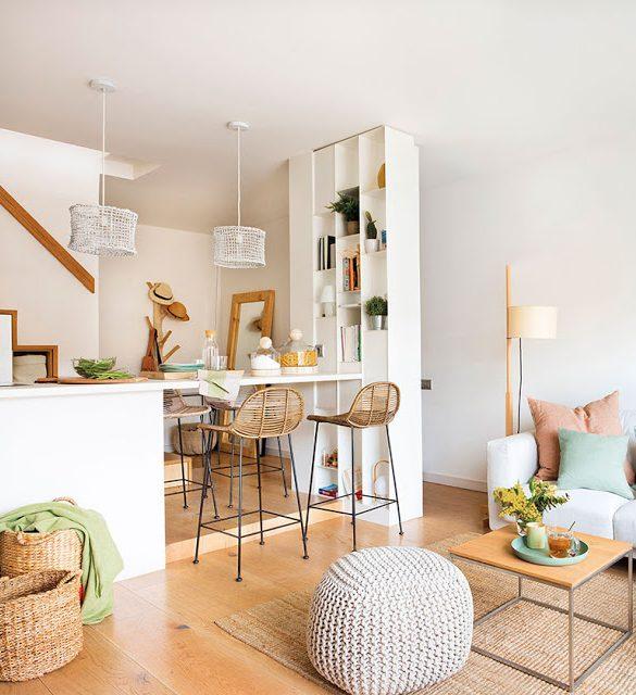 Amenajare practică într-un apartament pe două niveluri cu o suprafață de numai 40 m²