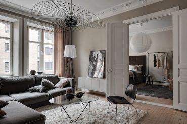 Eleganță în tonuri neutre de culoare într-un apartament de 67 m² din Suedia