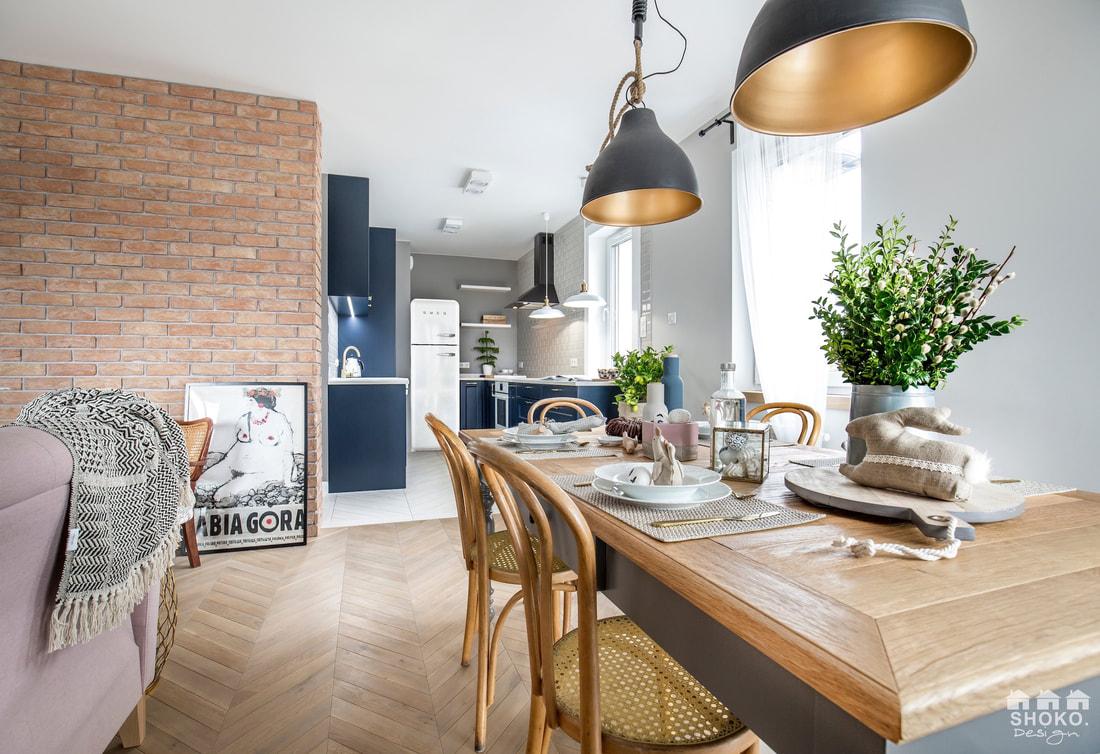 Design interior în plan deschis pentru un apartament de 70 m² 1