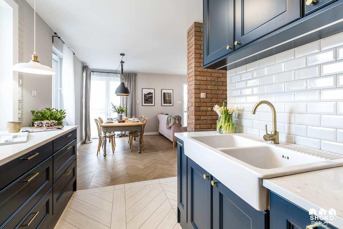 Design interior în plan deschis pentru un apartament de 70 m² 1d