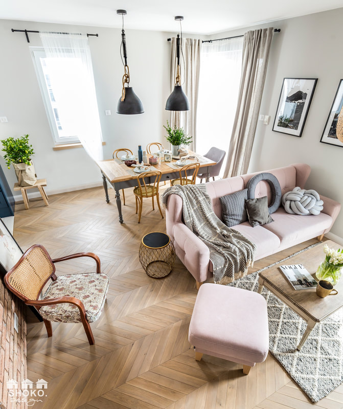 Design interior în plan deschis pentru un apartament de 70 m² 1f
