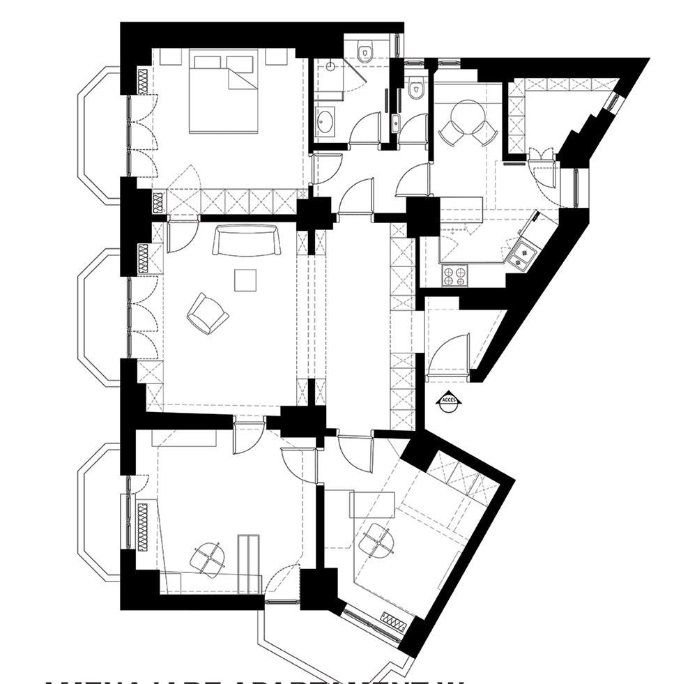 plan apartament 4 camere bucuresti