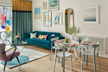 Accente retro și decor vesel într-un apartament de 50 m² 1