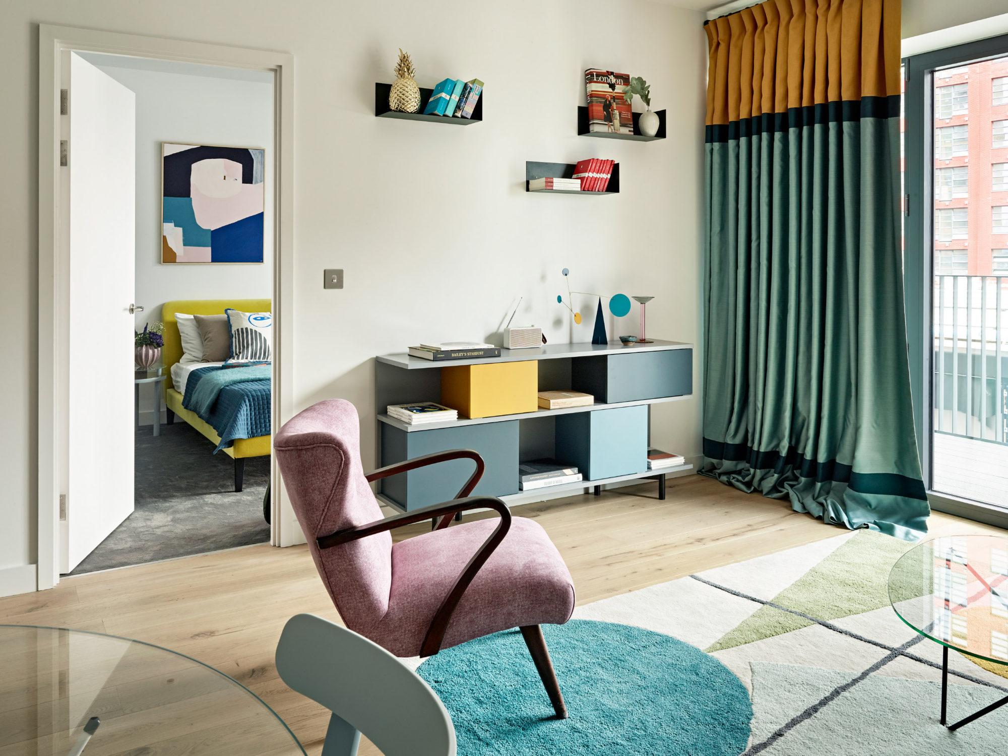 Accente retro și decor vesel într-un apartament de 50 m² 4
