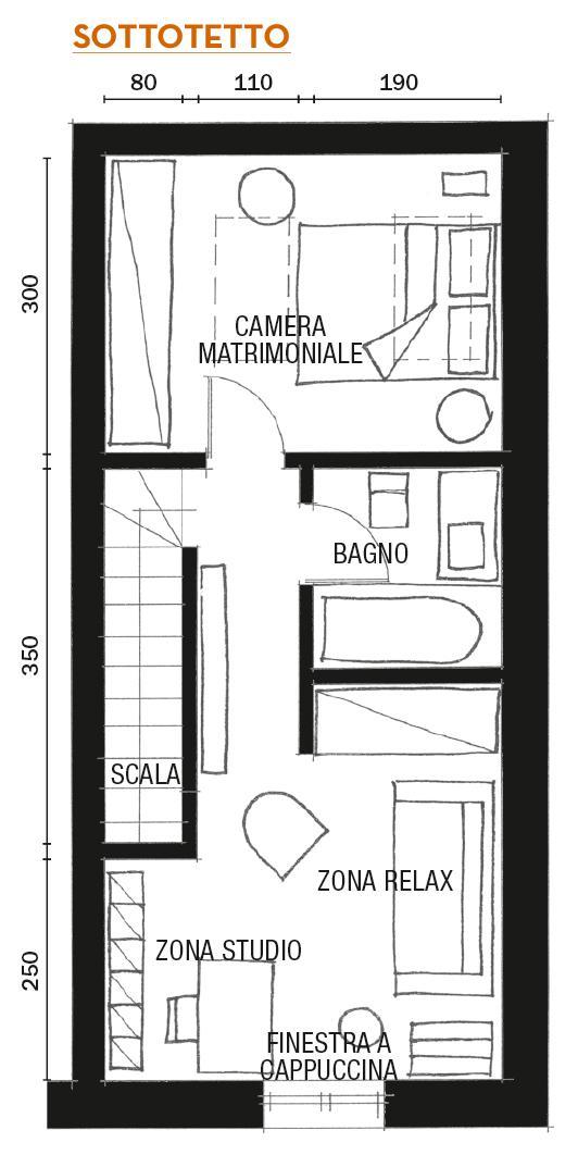 plan de amenajare etaj