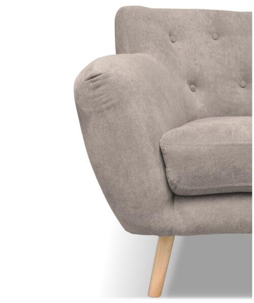 Canapea bej-gri cu 2 locuri 1