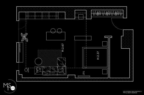 plan garsoniera Vernescu Residence, Bucureşti