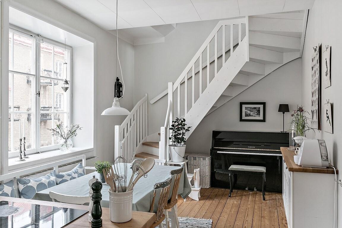 Accente rustice și vintage într-o mansardă pe două niveluri 10