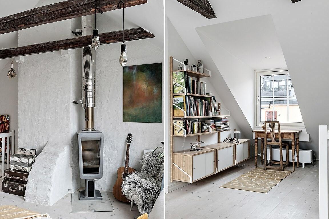 Accente rustice și vintage într-o mansardă pe două niveluri 1