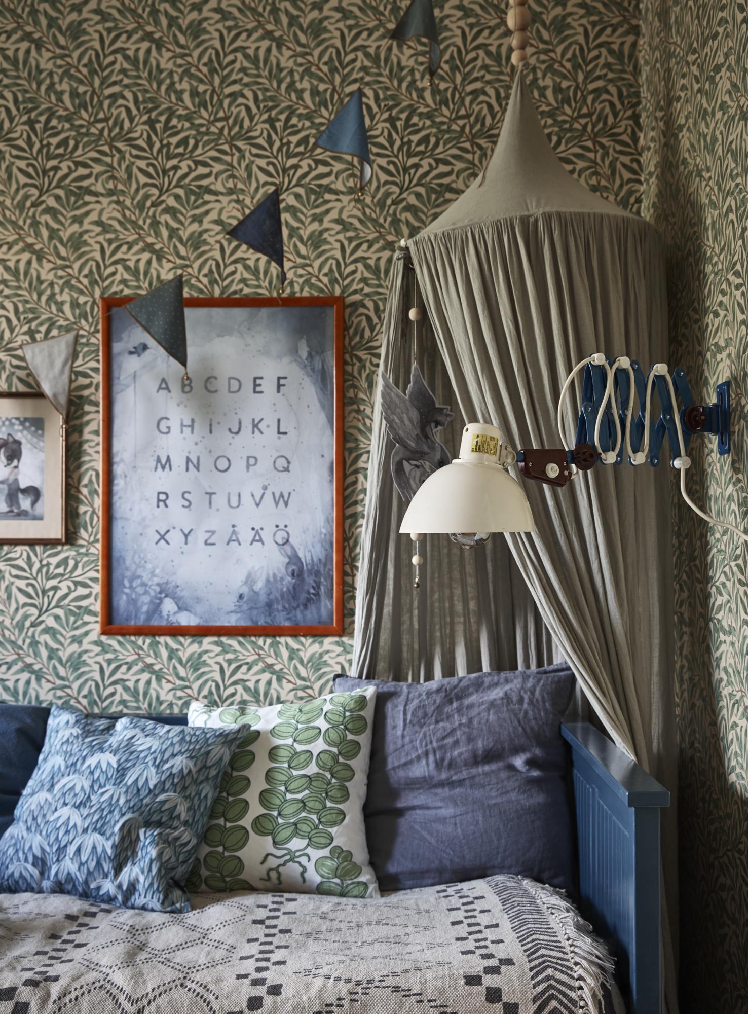 camera de copii scandinava boema