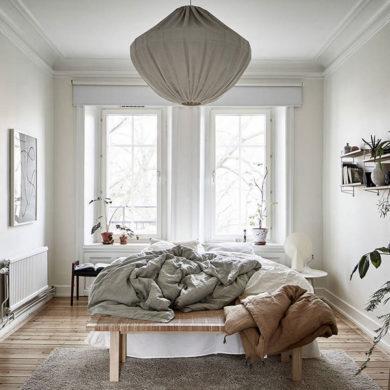 dormitor in culori naturale