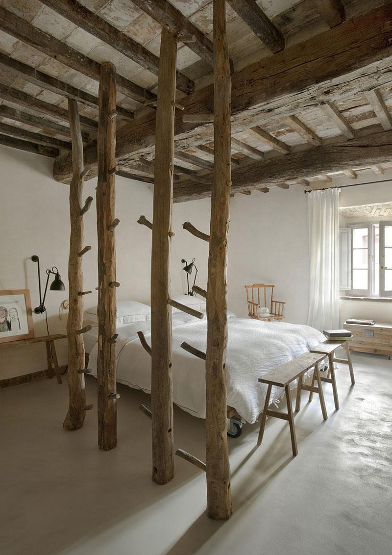 dormitor cu pomi